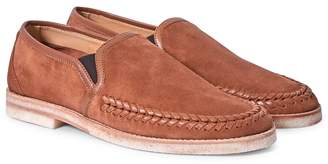 Hudson Tangier Suede Loafers Tan