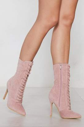 Nasty Gal Moving On Up Cord Boot