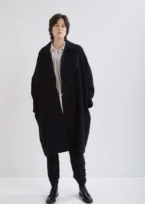 Yohji Yamamoto Wool B/Bias Zipper Coat