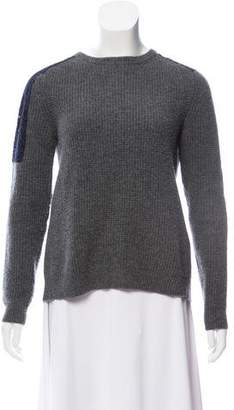 No.21 No. 21 Lace-Accented Virgin Wool Sweater