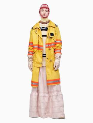 Calvin Klein distressed fireman coat