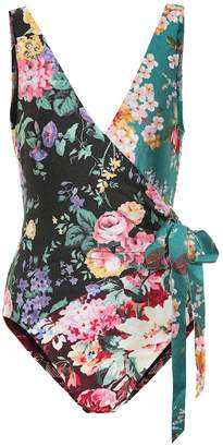 Zimmermann Allia floral swimsuit