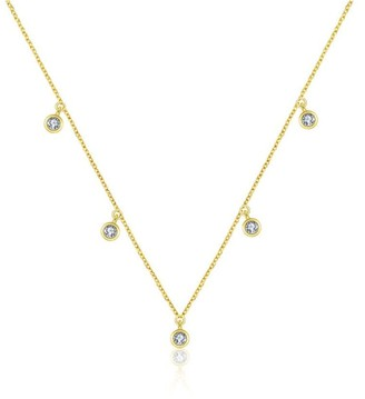 Genevieve Collection 18K Yellow Gold By The Yard Diamond Necklace