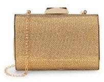 La Regale Textured Pryamid Box Clutch