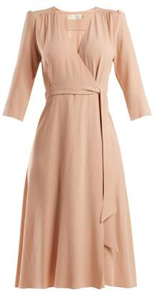 Goat Glenda Cady Wrap Dress - Womens - Light Pink