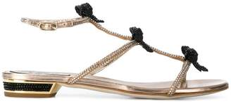Rene Caovilla embellished bow sandals
