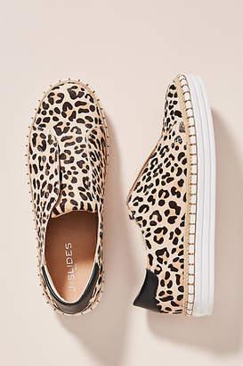J/Slides Leopard-Printed Slip-On Sneakers