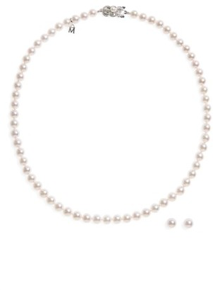 Women's Mikimoto Cultured Pearl Necklace & Stud Earring Set $2,500 thestylecure.com