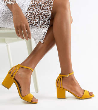 New Look Wide Fit Square Toe Block Heel Sandal