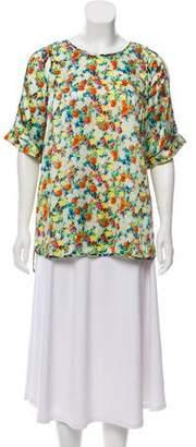 Rebecca Minkoff Silk Floral Print Top