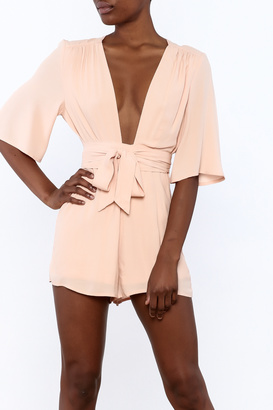 Cotton Candy Peach Tanya Romper $48 thestylecure.com