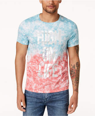 GUESS Men's Graphic Print Tie-Dyed T-Shirt