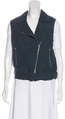 Elizabeth and James Linen-Blend Vest