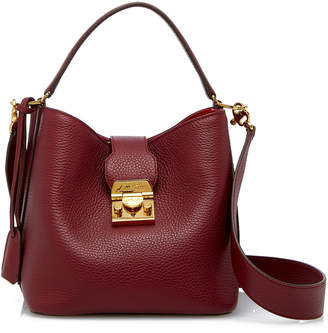 Mark Cross Small Murphy Pebbled Leather Bucket Bag