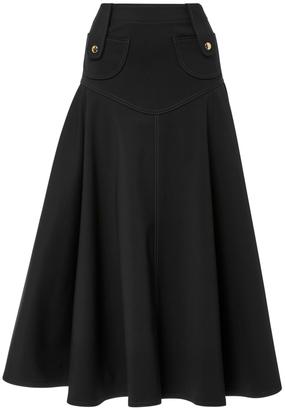 Derek Lam High Waist Flare Mini Skirt $1,295 thestylecure.com