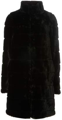 Dorothy Perkins Womens **Tall Black Lined Faux Fur Coat