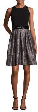Carmen Marc Valvo Pleated A-Line Dress $680 thestylecure.com