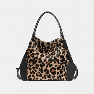 Coach Edie Shoulder Bag 42 With Embellished Leopard Print