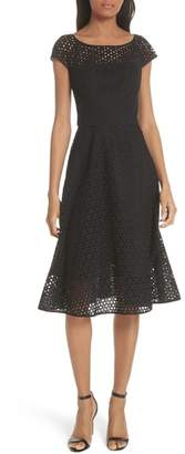 Milly Cathy Cotton Eyelet Dress