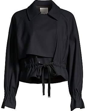 Tibi Women's Lightweight Wool-Blend Felt Tie-Waist Jacket