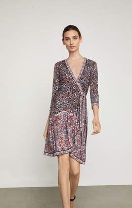 BCBGMAXAZRIA Adele Floral Print Wrap Dress