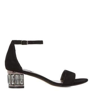 Black Suede Marcee Sandals