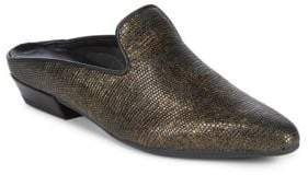 The Flexx Sisley Snake-Embossed Leather Mules