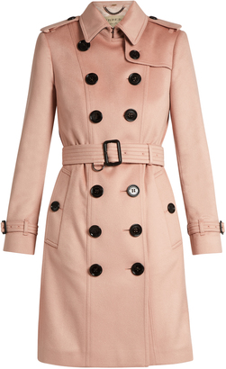 BURBERRY Sandringham long cashmere trench coat $2,075 thestylecure.com