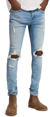 AllSaints Ichnaw Cigarette Slim Fit Jeans in Indigo