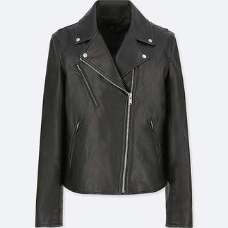 Uniqlo Women's Synthetic Leather Riders Jacket