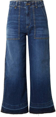 Veronica Beard Lou Cropped High-rise Wide-leg Jeans - Blue