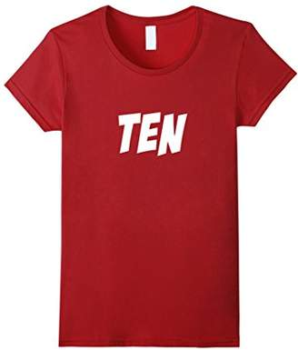 TENTH BIRTHDAY T-SHIRT for boys and girls turning Ten or 10