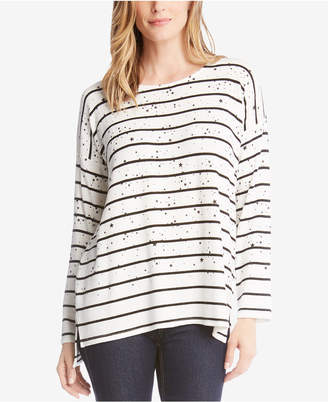Karen Kane Star-Print Striped Sweater