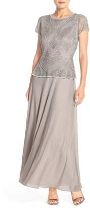 Pisarro Nights Embellished Mech & Chiffon Gown (Regular & Petite) $228 thestylecure.com