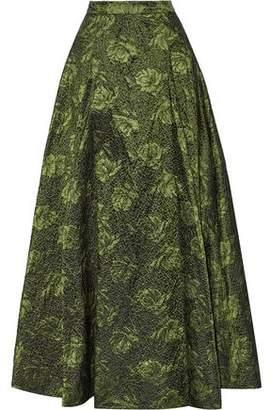 Alice + Olivia Alice+olivia Carey Pleated Brocade Maxi Skirt