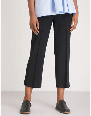 Sportmax Nepeta straight cropped mid-rise stretch-cotton trousers
