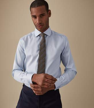 Reiss ORDER BY MIDNIGHT DEC 15TH FOR CHRISTMAS DELIVERY REMOTE REG REGULAR FIT SINGLE CUFF SHIRT Soft Blue