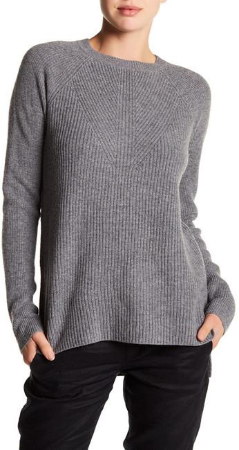 VINCE. Crew Neck Long Sleeve Wool Blend Sweater