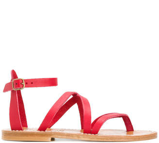 K. Jacques crossover strap sandals