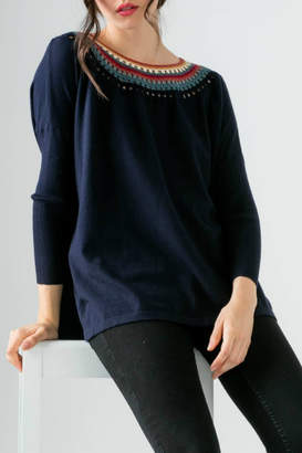 Thml Knit sweater w/ neckline detail