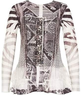 Dorothy Perkins Womens *Izabel London Multi Colour Long Sleeve Top