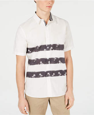 American Rag Men Triple Stripe Tropical Shirt