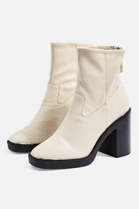 Topshop HIGHLAND Leather Ankle Boots