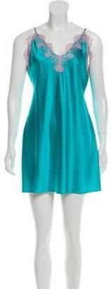 Fleur Du Mal Lace Silk Slip Dress w/ Tags
