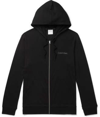 Calvin Klein Underwear Stretch Cotton And Modal-Blend Zip-Up Hoodie