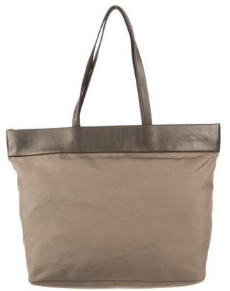 Tumi Leather-Trimmed Nylon Tote
