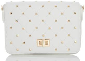 Quiz White Gold Stud Trim Bag