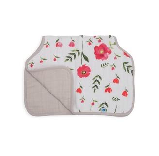 Little Unicorn Cotton Burp Cloth - Summer Poppy