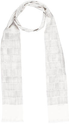 Paul Smith Striped Silk Fringe Scarf $65 thestylecure.com