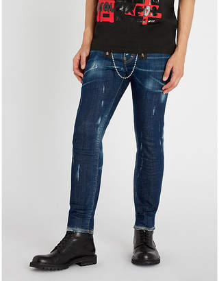 DSQUARED2 Double zip detail skinny jeans
